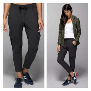 Lululemon Charcoal Grey Cargo Sweat Pants Jogger 8